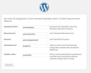 Wordpress-Datenbank-Verbindung
