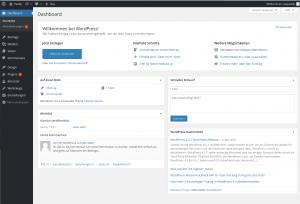 Dashboard von WordPress
